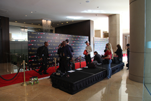 Press Risers Rentals By Red Carpet Systems
