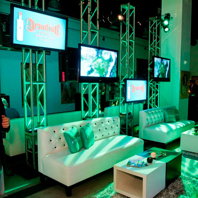truss systems rental for lighting  dj  trade show  stage display in los angeles  las vegas