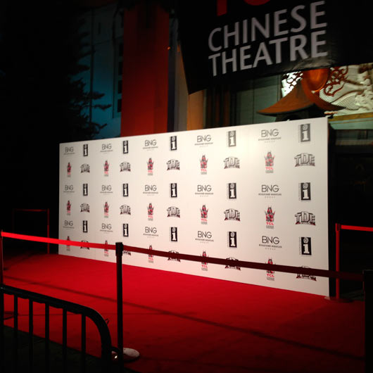 Step and Repeat Red Carpet Backdrop - Redcarpetsystems.com