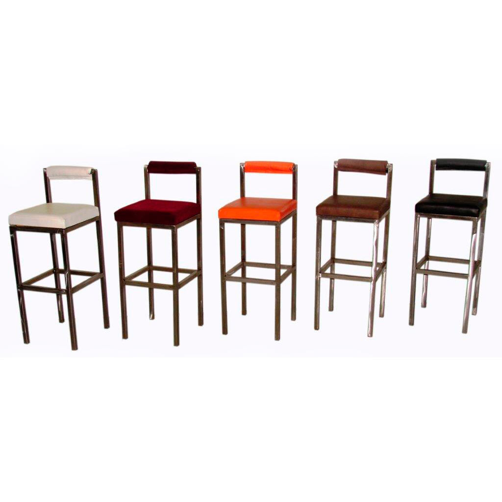 Bar Stools   Brushed Metal Base