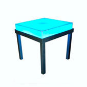 Event Furniture - Illuminated Plexi End Table - Redcarpetsystems.com
