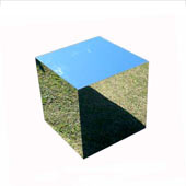 Event Furniture - Mirror Finished Cube End Table - Redcarpetsystems.com