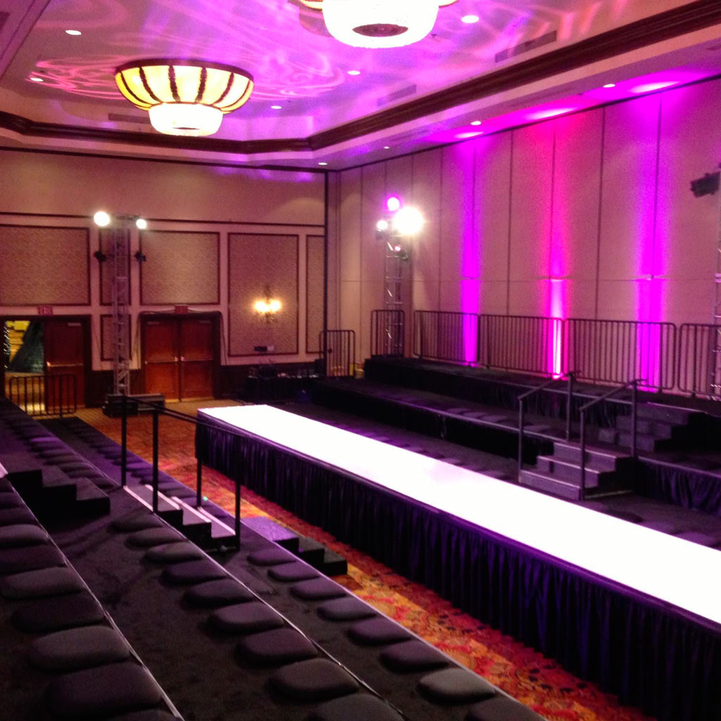 runway rental for fashion show stages in new york city. Black Bedroom Furniture Sets. Home Design Ideas