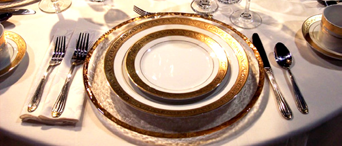 Dinnerware Rental for your Los Angeles Events - Red Carpet Systems