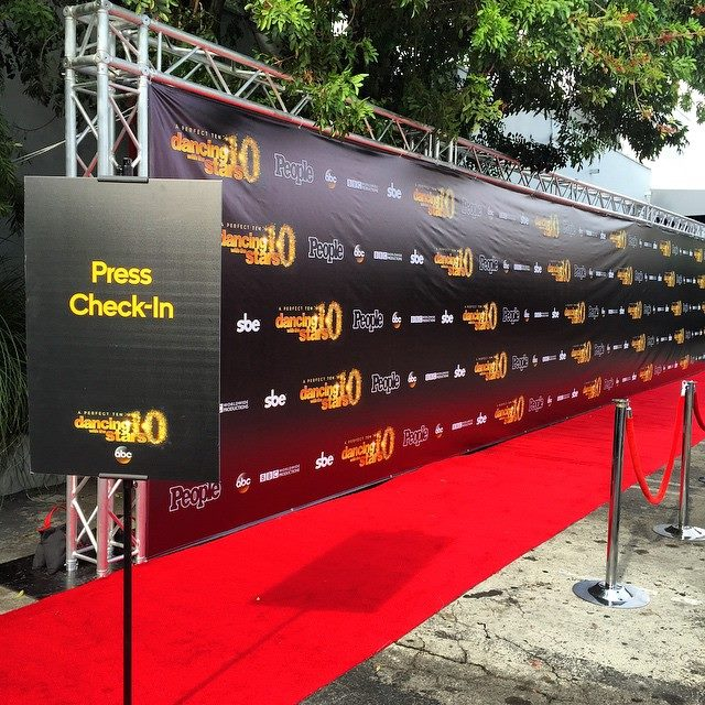Dancing with the Stars' Red carpet arrival and check-in