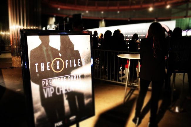 X-Files red carpet display sign