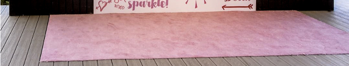 Pink Carpet Runner Rental