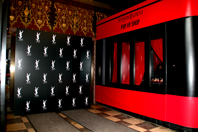 YSL step and repeat backdrop